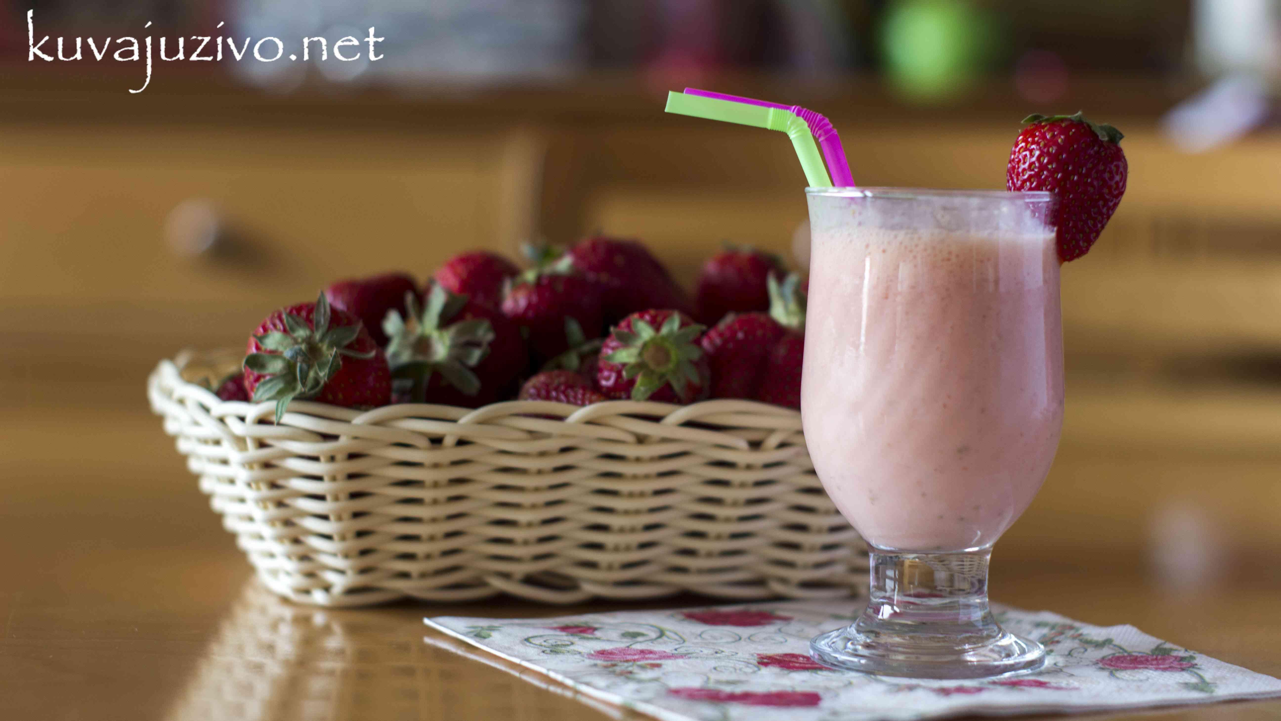Milkshake od jagoda